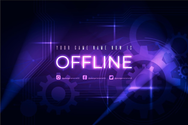Offline twitch bannerontwerp