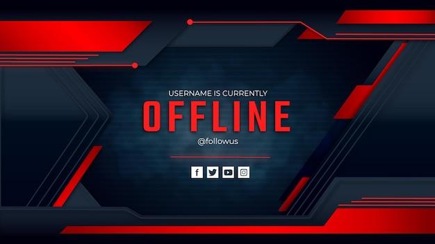 Offline twitch-sjabloon voor spandoek