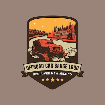 Offroad auto badge logo