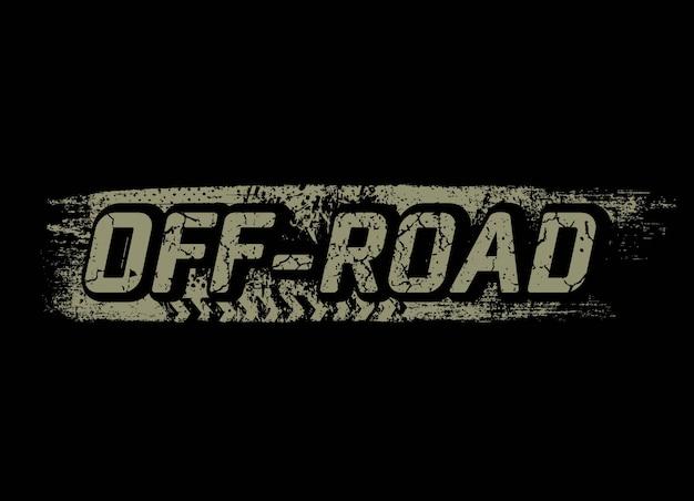 Offroad grunge tekst