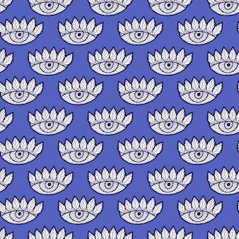 Ogen naadloos patroon op blauw