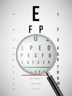 Ogentest grafieken latijnse letters, oogheelkundige test.