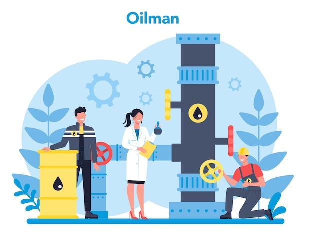 Oilman en aardolie-industrie concept
