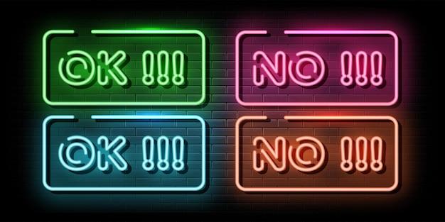 Ok en geen neonteken neonsymbool