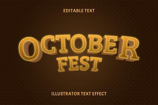 Oktober fest kleur bruin bewerkbaar tekst effect