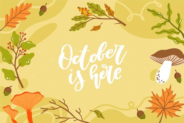 Oktober is hier achtergrond