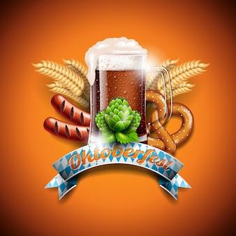 Oktoberfest achtergrond ontwerp