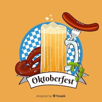 Oktoberfest achtergrondontwerp