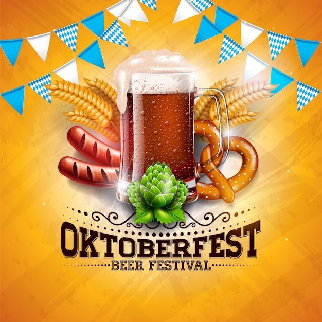 Oktoberfest banner illustratie
