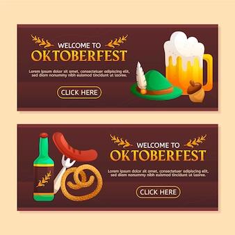 Oktoberfest banners sjabloon thema