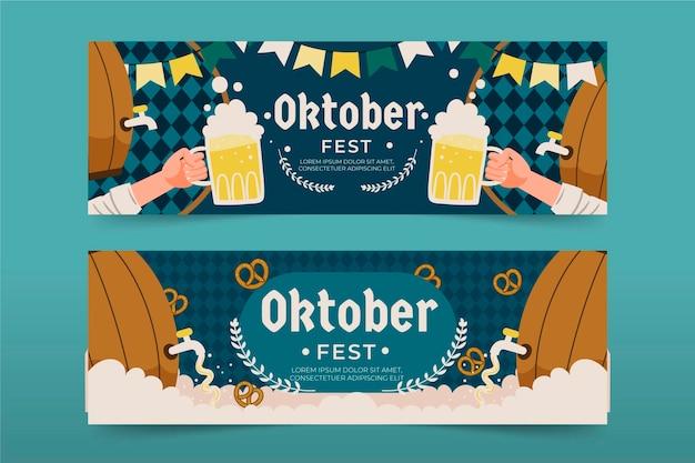 Oktoberfest banners stijl