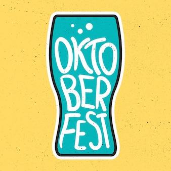 Oktoberfest belettering badge