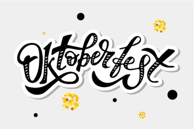 Oktoberfest belettering kalligrafie