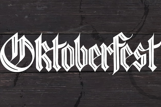 Oktoberfest belettering voor oktoberfest beer festival