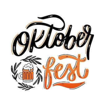 Oktoberfest belettering