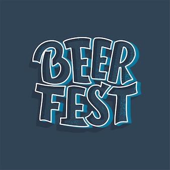 Oktoberfest bierfestival belettering.