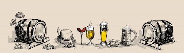 Oktoberfest bierfestival decoratie