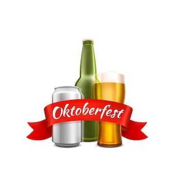 Oktoberfest bierfestival, feestelijke cover van het evenement