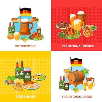 Oktoberfest concept elementen plein