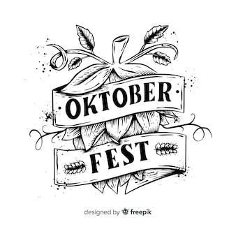 Oktoberfest concept met belettering achtergrond