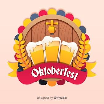 Oktoberfest concept met platte ontwerp