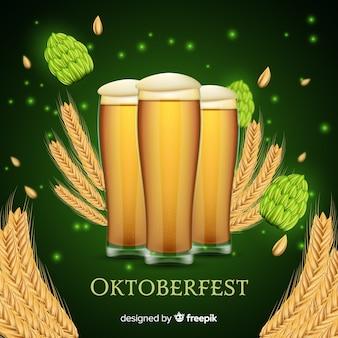 Oktoberfest concept met realistische achtergrond