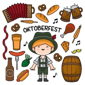 Oktoberfest doodle illustratie