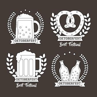 Oktoberfest duitsland feest set