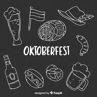 Oktoberfest-elementen achtergrondbordstijl