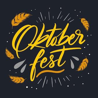 Oktoberfest festival belettering