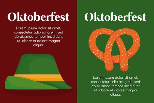 Oktoberfest festival ontwerp met pictogram vectot ilustration