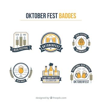 Oktoberfest grafische logo's vector pack