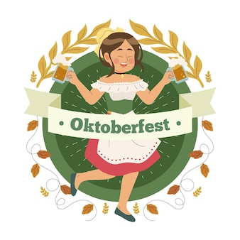 Oktoberfest handgetekende concept