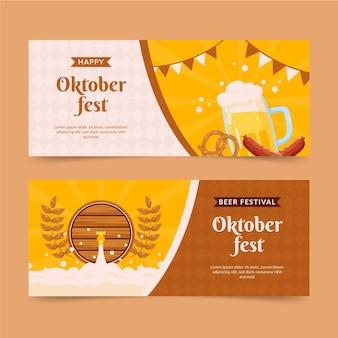 Oktoberfest horizontale banners set