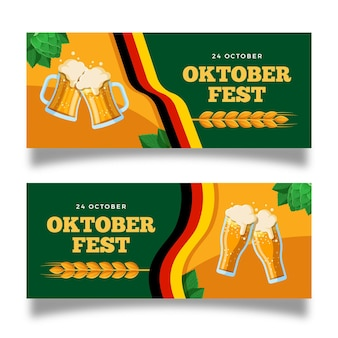 Oktoberfest horizontale banners