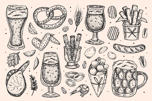 Oktoberfest illustraties, set elementen.