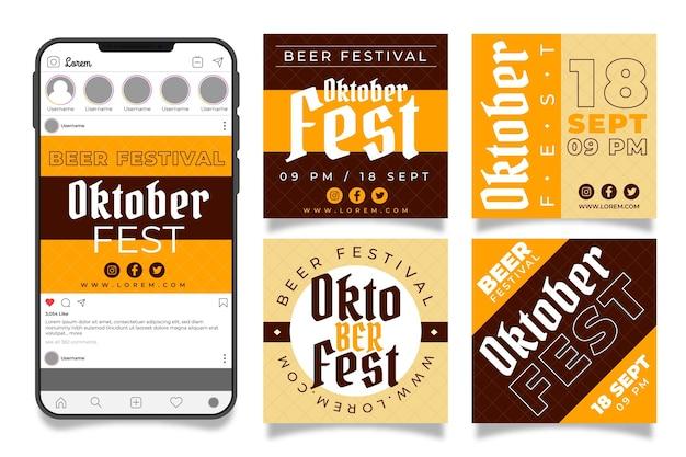 Oktoberfest instagram posts collectie