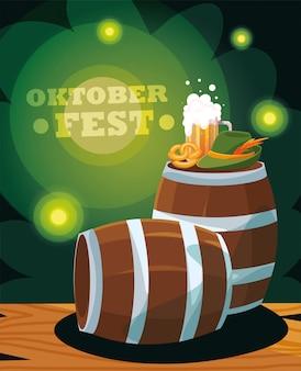Oktoberfest kaart van bierfestival