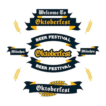 Oktoberfest linten set tekenen
