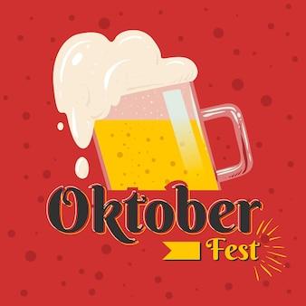 Oktoberfest met pint bier
