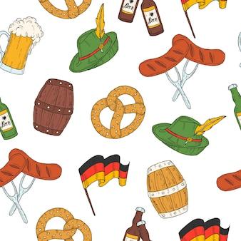 Oktoberfest naadloze patroon