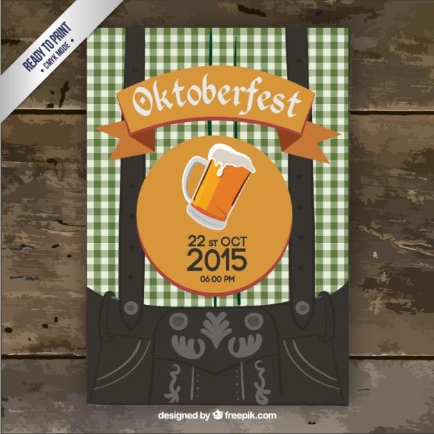 Oktoberfest partij flyer