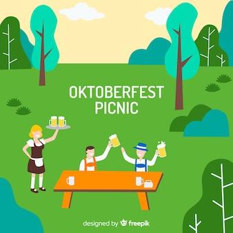 Oktoberfest picknick achtergrond
