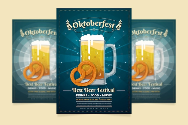 Oktoberfest poster sjabloon