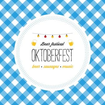Oktoberfest poster vectorillustratie