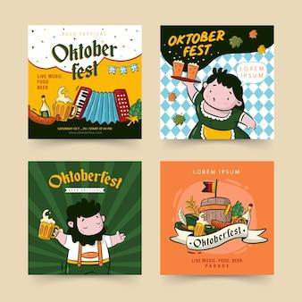 Oktoberfest sociale media postverzameling