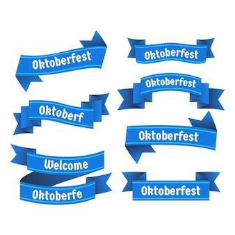 Oktoberfest teef linten plat ontwerp