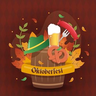 Oktoberfest traditionele duitse festivalillustratie