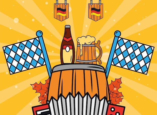 Oktoberfest vat en bieren