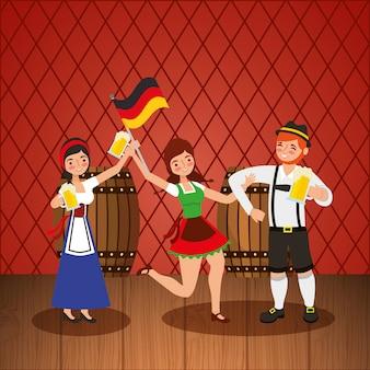 Oktoberfest viering illustratie, bierfestival
